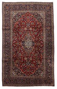 Keshan Rug 210X326 Authentic  Oriental Handknotted Black/Dark Brown (Wool, Persia/Iran)