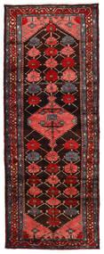 Hamadan Rug 110X285 Authentic  Oriental Handknotted Hallway Runner  Dark Red/Dark Brown (Wool, Persia/Iran)
