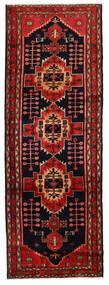 Hamadan Rug 105X301 Authentic  Oriental Handknotted Hallway Runner  Dark Red/Rust Red (Wool, Persia/Iran)