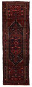 Hamadan Rug 96X293 Authentic  Oriental Handknotted Hallway Runner  Dark Red (Wool, Persia/Iran)
