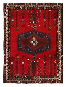 Afshar/Sirjan Rug 130X178 Authentic  Oriental Handknotted Dark Brown/Dark Red/Crimson Red (Wool, Persia/Iran)