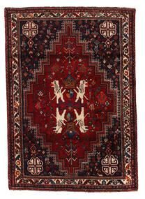Shiraz Rug 124X175 Authentic  Oriental Handknotted Dark Red (Wool, Persia/Iran)