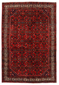 Hosseinabad Rug 136X203 Authentic Oriental Handknotted Dark Red/Rust Red (Wool, Persia/Iran)