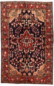 Mahal Rug 137X213 Authentic  Oriental Handknotted Dark Red/Dark Brown (Wool, Persia/Iran)