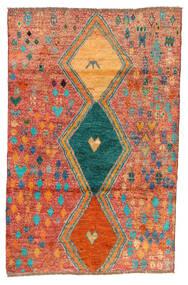 Moroccan Berber - Afghanistan Rug 114X175 Authentic  Modern Handknotted Crimson Red/Orange (Wool, Afghanistan)