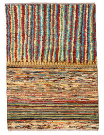 Moroccan Berber - Afghanistan Rug 82X112 Authentic  Modern Handknotted Dark Brown/Crimson Red (Wool, Afghanistan)