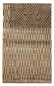 Moroccan Berber - Afghanistan Rug 89X147 Authentic  Modern Handknotted Dark Red/Beige (Wool, Afghanistan)
