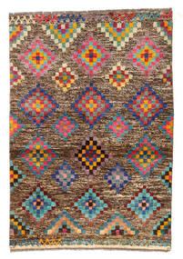 Moroccan Berber - Afghanistan Rug 89X130 Authentic  Modern Handknotted Light Brown/Dark Brown (Wool, Afghanistan)