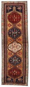 Ardebil Rug 103X324 Authentic Oriental Handknotted Hallway Runner Dark Brown/Dark Red (Wool, Persia/Iran)