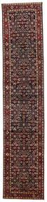 Hosseinabad Rug 82X391 Authentic  Oriental Handknotted Hallway Runner  Dark Red/Dark Grey (Wool, Persia/Iran)