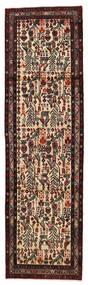 Lillian Rug 84X287 Authentic  Oriental Handknotted Hallway Runner  Dark Brown/Light Brown (Wool, Persia/Iran)