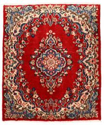 Sarouk Rug 76X90 Authentic  Oriental Handknotted Rust Red/Dark Purple (Wool, Persia/Iran)