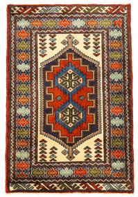 Turkaman Rug 61X93 Authentic  Oriental Handknotted Black/Dark Brown (Wool, Persia/Iran)
