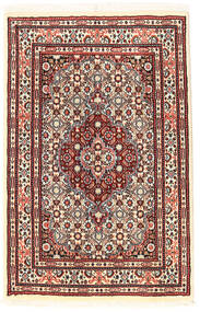 Moud Rug 56X89 Authentic  Oriental Handknotted (Wool/Silk, Persia/Iran)