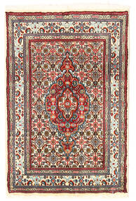 Moud Rug 60X89 Authentic  Oriental Handknotted (Wool/Silk, Persia/Iran)