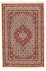 Moud Rug 58X89 Authentic  Oriental Handknotted (Wool/Silk, Persia/Iran)