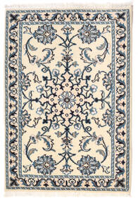 Nain Rug 61X88 Authentic  Oriental Handknotted Beige/Blue (Wool, Persia/Iran)