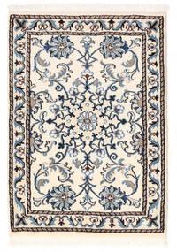 Nain Rug 59X84 Authentic  Oriental Handknotted Beige/Black (Wool, Persia/Iran)