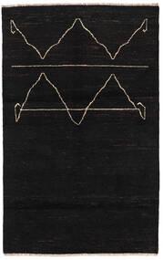 Moroccan Berber - Afghanistan Rug 114X180 Authentic  Modern Handknotted Black (Wool, Afghanistan)