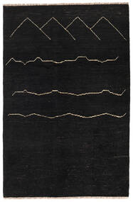 Moroccan Berber - Afghanistan Rug 116X176 Authentic  Modern Handknotted Black (Wool, Afghanistan)