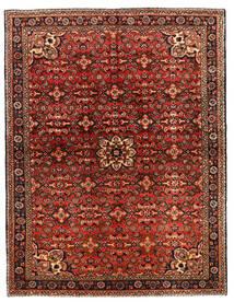 Hosseinabad Rug 149X218 Authentic  Oriental Handknotted Dark Brown/Dark Red (Wool, Persia/Iran)