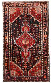Hosseinabad Rug 112X196 Authentic Oriental Handknotted Black/Dark Red (Wool, Persia/Iran)