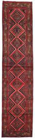 Asadabad Rug 80X353 Authentic Oriental Handknotted Hallway Runner Dark Red (Wool, Persia/Iran)