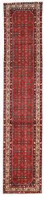 Hosseinabad Rug 78X388 Authentic  Oriental Handknotted Hallway Runner  Dark Red/Dark Brown (Wool, Persia/Iran)