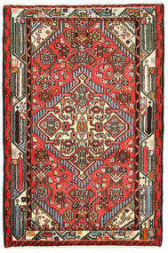 Hamadan Rug 82X125 Authentic Oriental Handknotted Black/Dark Brown (Wool, Persia/Iran)