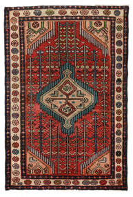 Hamadan Rug 76X115 Authentic Oriental Handknotted Dark Brown/Black (Wool, Persia/Iran)