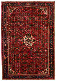 Hosseinabad Rug 213X310 Authentic Oriental Handknotted Dark Red/Rust Red (Wool, Persia/Iran)