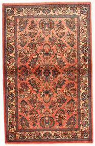 Sarouk Rug 100X165 Authentic  Oriental Handknotted Dark Brown/Dark Red (Wool, Persia/Iran)