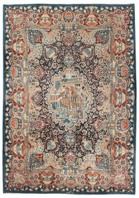 Kashmar Rug 250X350 Authentic  Oriental Handknotted Dark Grey/Dark Blue Large (Wool, Persia/Iran)