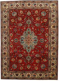 Tabriz Rug 217X302 Authentic  Oriental Handknotted Dark Brown/Dark Red (Wool, Persia/Iran)