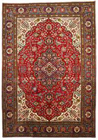 Tabriz Rug 205X296 Authentic  Oriental Handknotted Dark Red/Rust Red (Wool, Persia/Iran)
