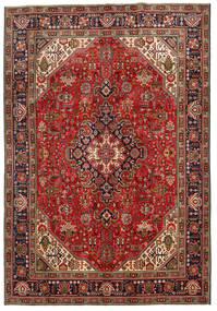 Tabriz Rug 198X287 Authentic  Oriental Handknotted Dark Brown/Dark Red (Wool, Persia/Iran)