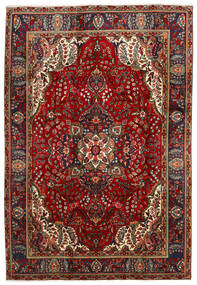 Tabriz Rug 202X300 Authentic  Oriental Handknotted Black/Dark Red (Wool, Persia/Iran)