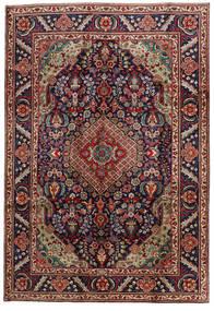 Tabriz Rug 201X295 Authentic  Oriental Handknotted Dark Red/Black (Wool, Persia/Iran)