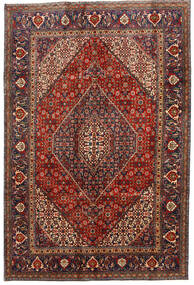 Tabriz Rug 192X287 Authentic  Oriental Handknotted Dark Red/Dark Grey (Wool, Persia/Iran)