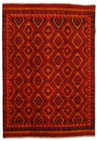 Moroccan Berber - Afghanistan Rug 200X285 Authentic  Modern Handknotted Dark Red/Rust Red (Wool, Afghanistan)