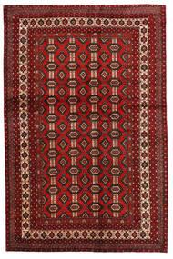 Mashad Rug 130X200 Authentic  Oriental Handknotted Dark Red/Dark Brown (Wool, Persia/Iran)