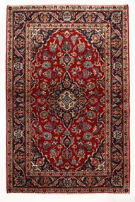 Keshan Rug 97X147 Authentic  Oriental Handknotted Dark Red/Beige (Wool, Persia/Iran)