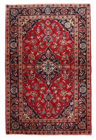 Keshan Rug 98X148 Authentic  Oriental Handknotted Dark Brown/Dark Red (Wool, Persia/Iran)