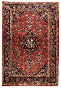 Keshan Rug 100X146 Authentic  Oriental Handknotted Dark Brown/Rust Red (Wool, Persia/Iran)