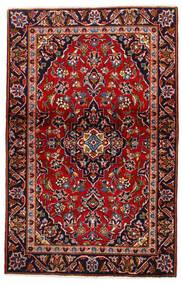 Keshan Rug 105X147 Authentic  Oriental Handknotted Dark Red/Dark Purple (Wool, Persia/Iran)