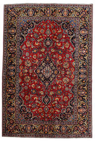 Keshan Rug 140X210 Authentic  Oriental Handknotted Dark Red (Wool, Persia/Iran)