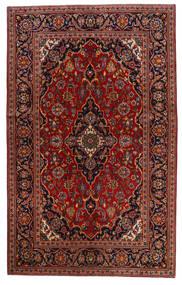 Keshan Rug 130X209 Authentic  Oriental Handknotted Dark Red/Dark Brown (Wool, Persia/Iran)