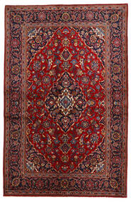 Keshan Rug 134X208 Authentic  Oriental Handknotted Dark Red/Black (Wool, Persia/Iran)