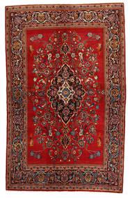 Keshan Rug 135X215 Authentic  Oriental Handknotted Dark Red/Rust Red (Wool, Persia/Iran)