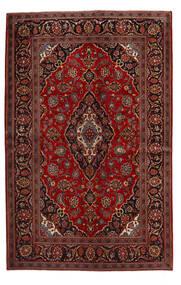 Keshan Rug 140X219 Authentic  Oriental Handknotted Dark Red/Dark Brown (Wool, Persia/Iran)